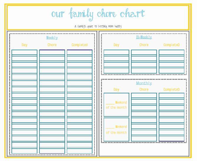 Family Chore Charts Templates Beautiful Chart Template ...