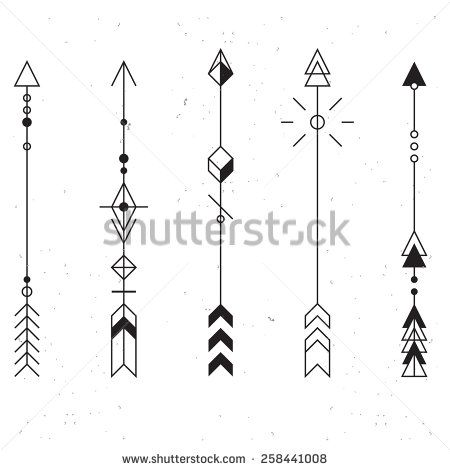 Stock Images Similar To Id 283219841 Set Of Abstract Arrows Tattoo Arrow Tattoos Arrow Tattoo Design Geometry Tattoo
