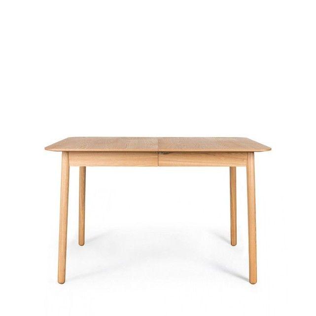 Table à Manger Extensible 120-162x80cm Bois Glimps Zuiver