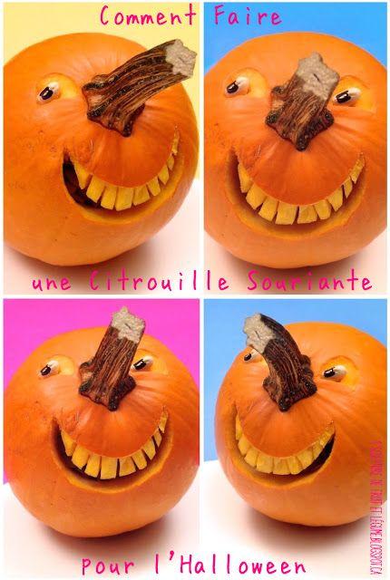 1 sculpture de fruit et l gume comment faire une citrouille souriante pour d co pinterest - Comment creuser une citrouille ...