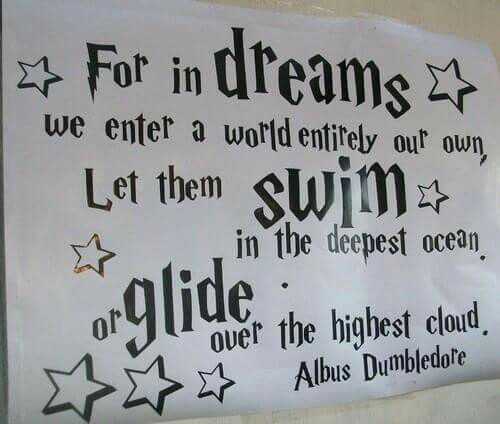 For Dreams We Enter A World Entirely Our Own Let Them Swim In The