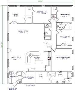 Shop With Living Quarters Floor Plans : Barn Floor Plans With Living Quarters  Garden Ideas ...