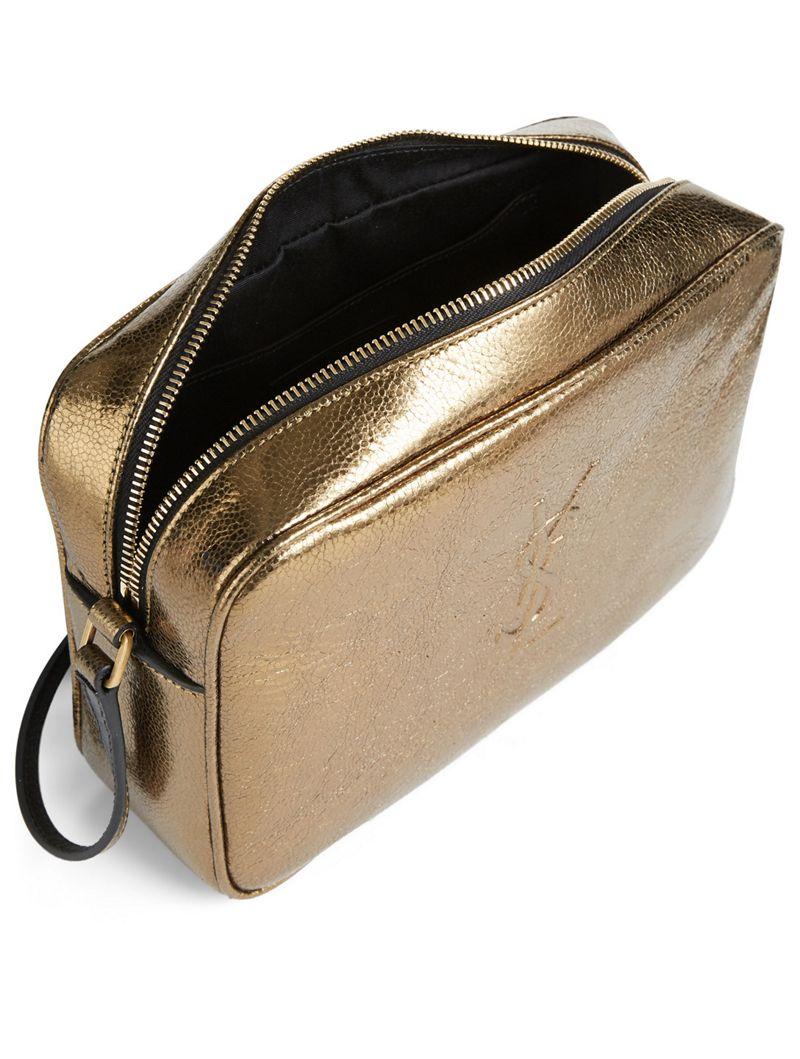 82675595ea3d SAINT LAURENT Lou Monogram Metallic Leather Camera Bag   Holt Renfrew