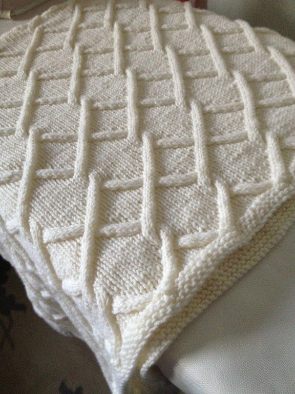 Free Knitting Pattern For Lattice Cables Baby Blanket Knitting