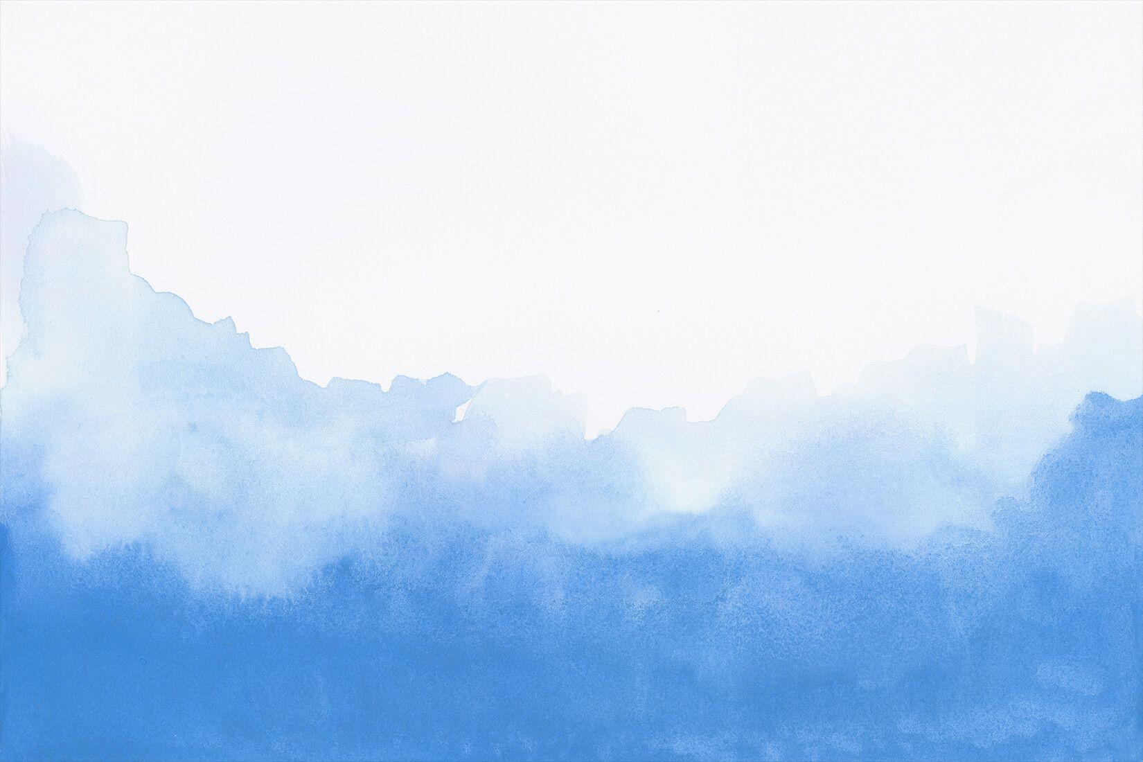 Blue Blend Watercolour Wall Mural Blue marble wallpaper