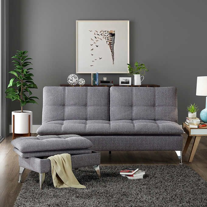 Solmar Grey Living Room Sofalounger With Storage Ottoman Gorgeous Grey Living Room Design Decorating Inspiration