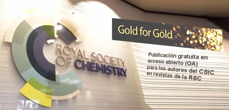 "Programa ""Gold for Gold"" de la Royal Society of Chemistry (RSC) - csic.es"