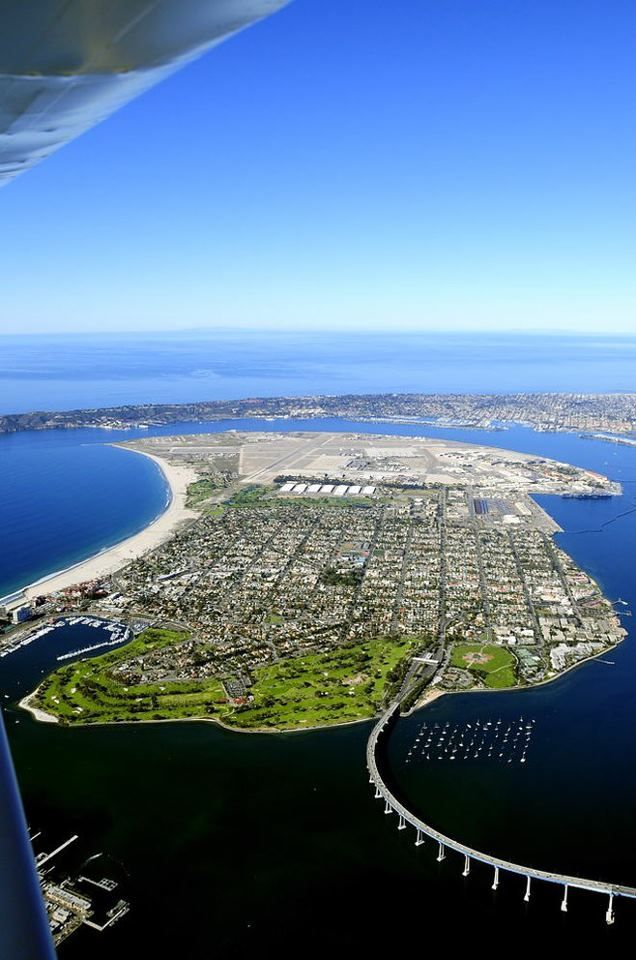 About 3300 Feet Above Downtown On A Clear Day. Coronado