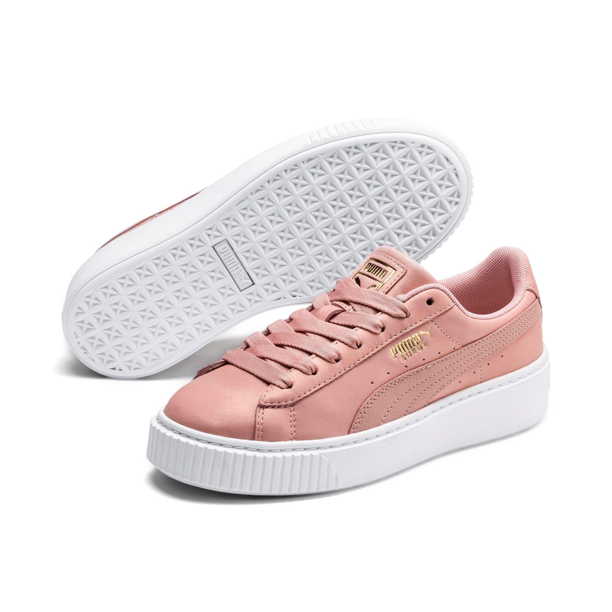 chaussure puma suede femme rose