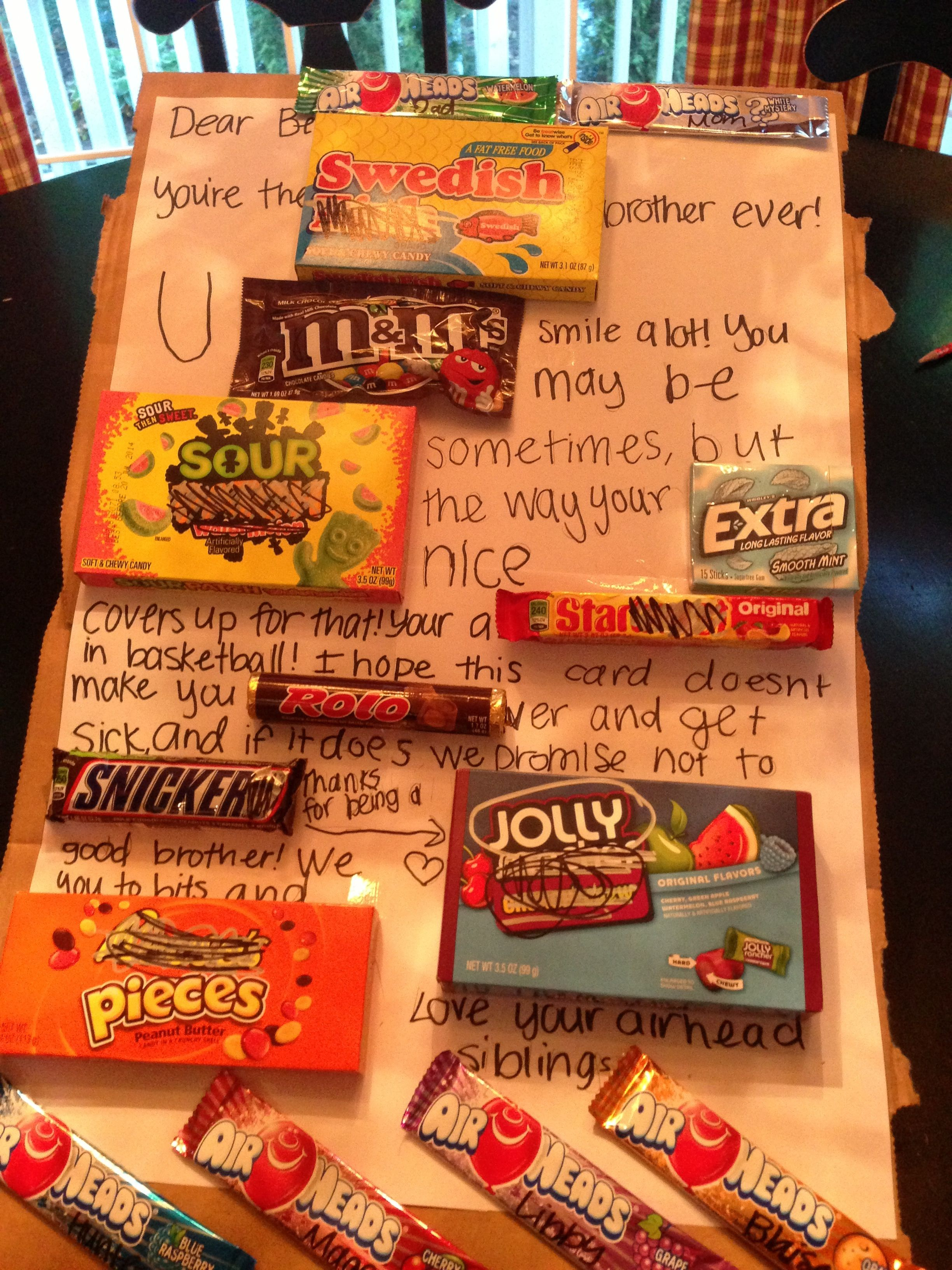 brother birthday present! wypracowanie candies Birthday