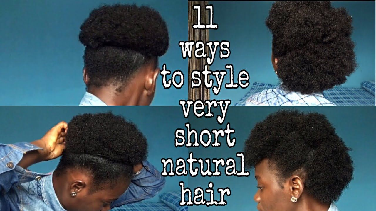 How To Style Very Short Natural Hair For Black Women 12 Styles For 3c 4a 4b 4c Hair Type Type 4c Hairstyles Natural Hair Styles Short Natural Hair Styles