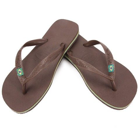 Havaianas Brazil Logo Dark Brown Dark Brown Flip Flop With Images