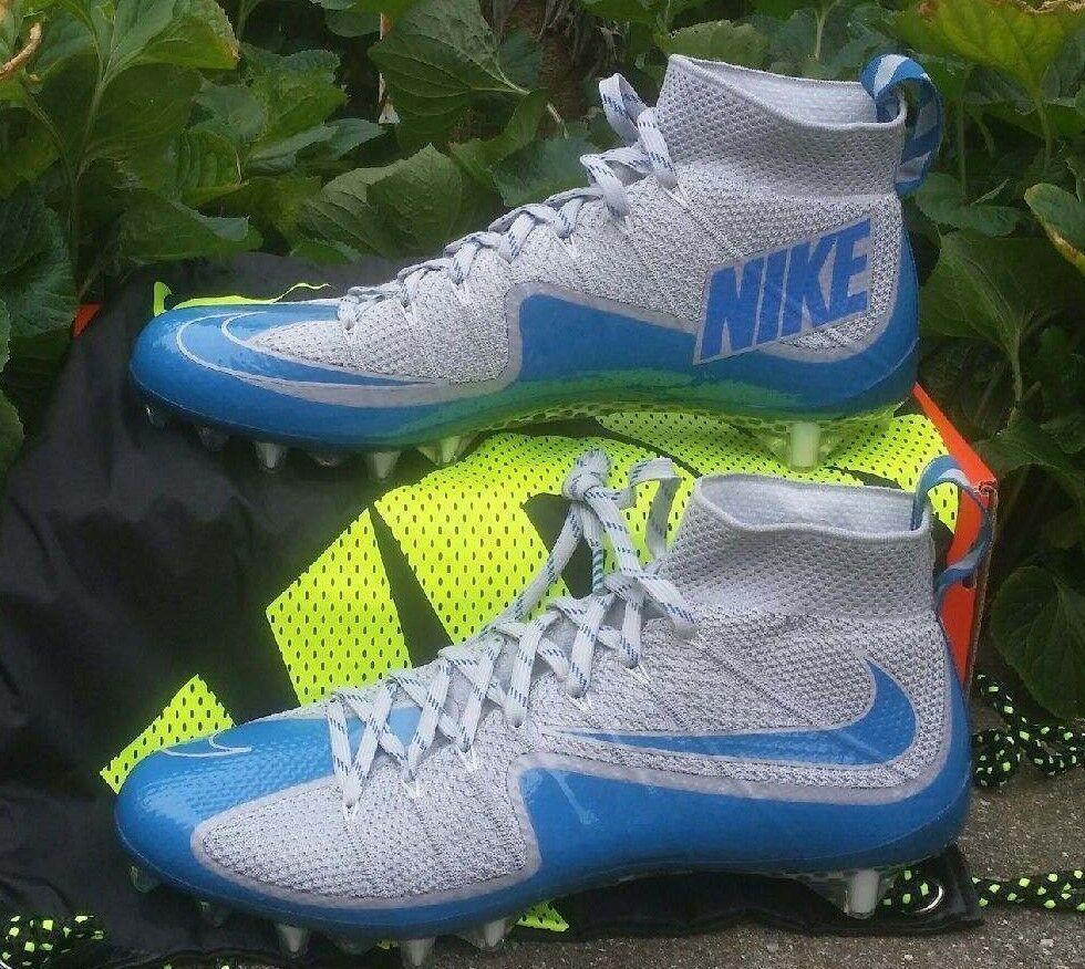 bef4a2f4db5 eBay  Sponsored NIKE VAPOR UNTOUCHABLE TD FOOTBALL CLEATS SIZE 10 GREY BLUE  707455-011 LIONS