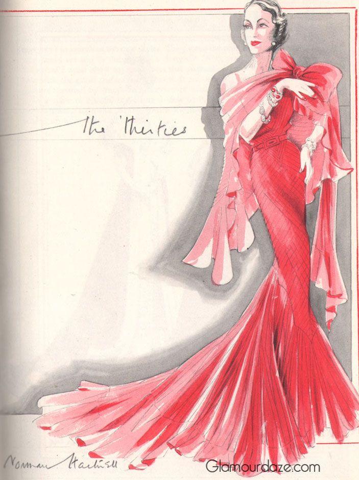 Norman-Hartnell---fashion-of-the-1930s | tira reale de Elisabetta 2 ...