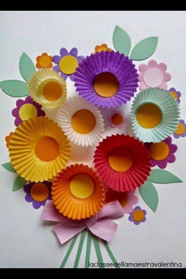 Moederdagkaartje | buglet | Pinterest | Primavera, Flores de papel y ...