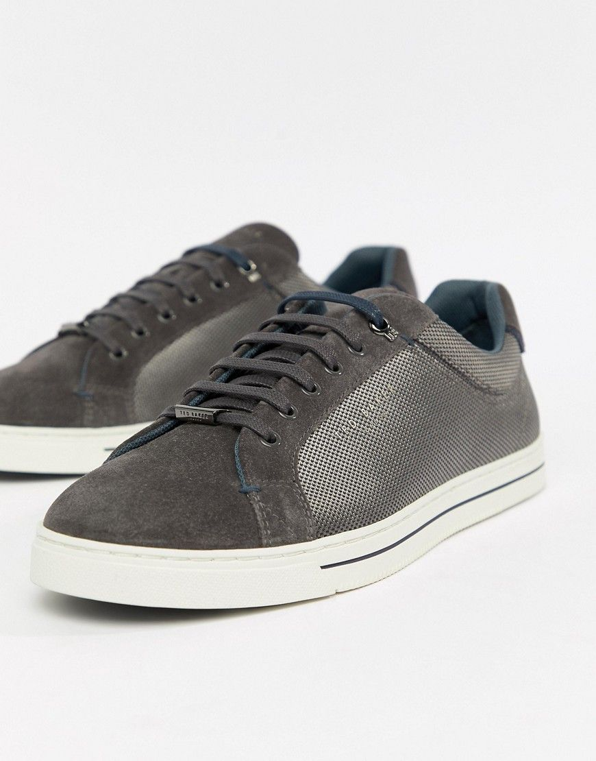 TED BAKER EERIL TRAINERS IN GREY - GRAY