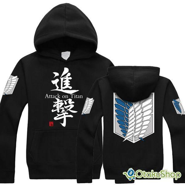 Cosplay Shingeki no Kyojin Attack on Titan Anime Kapuzen Sweatshirt Hoodie Neu