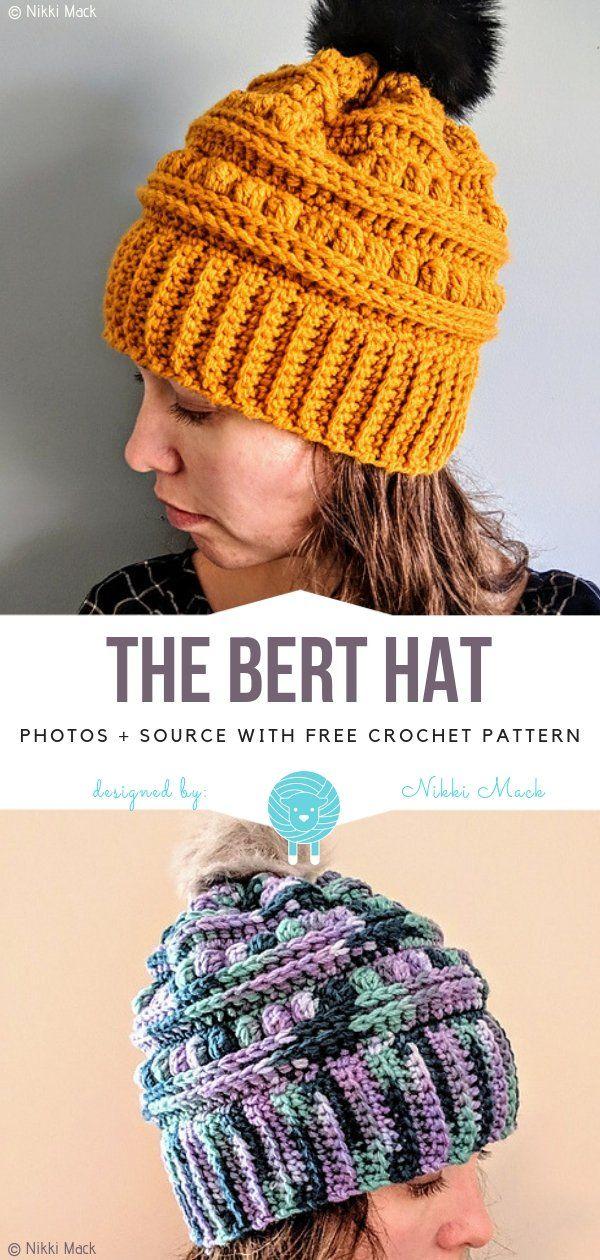 Textured Crochet Hats Free Patterns Crochet hats