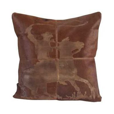 Mina Victory Dallas Natural Leather Throw Pillow Products Mesmerizing Dallas Cowboys Decorative Pillow