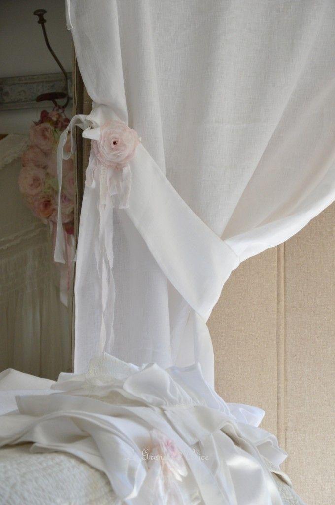 pingl par mina sur rideaux shabby chic pinterest rideaux rideaux lin et rideau lin blanc. Black Bedroom Furniture Sets. Home Design Ideas