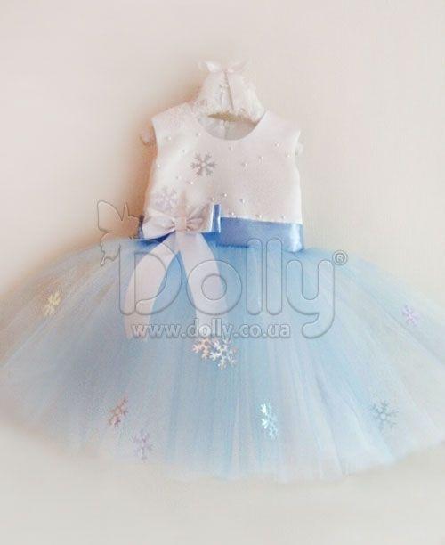 05ed2db783a Платье Снежинка Айс бело-голубое