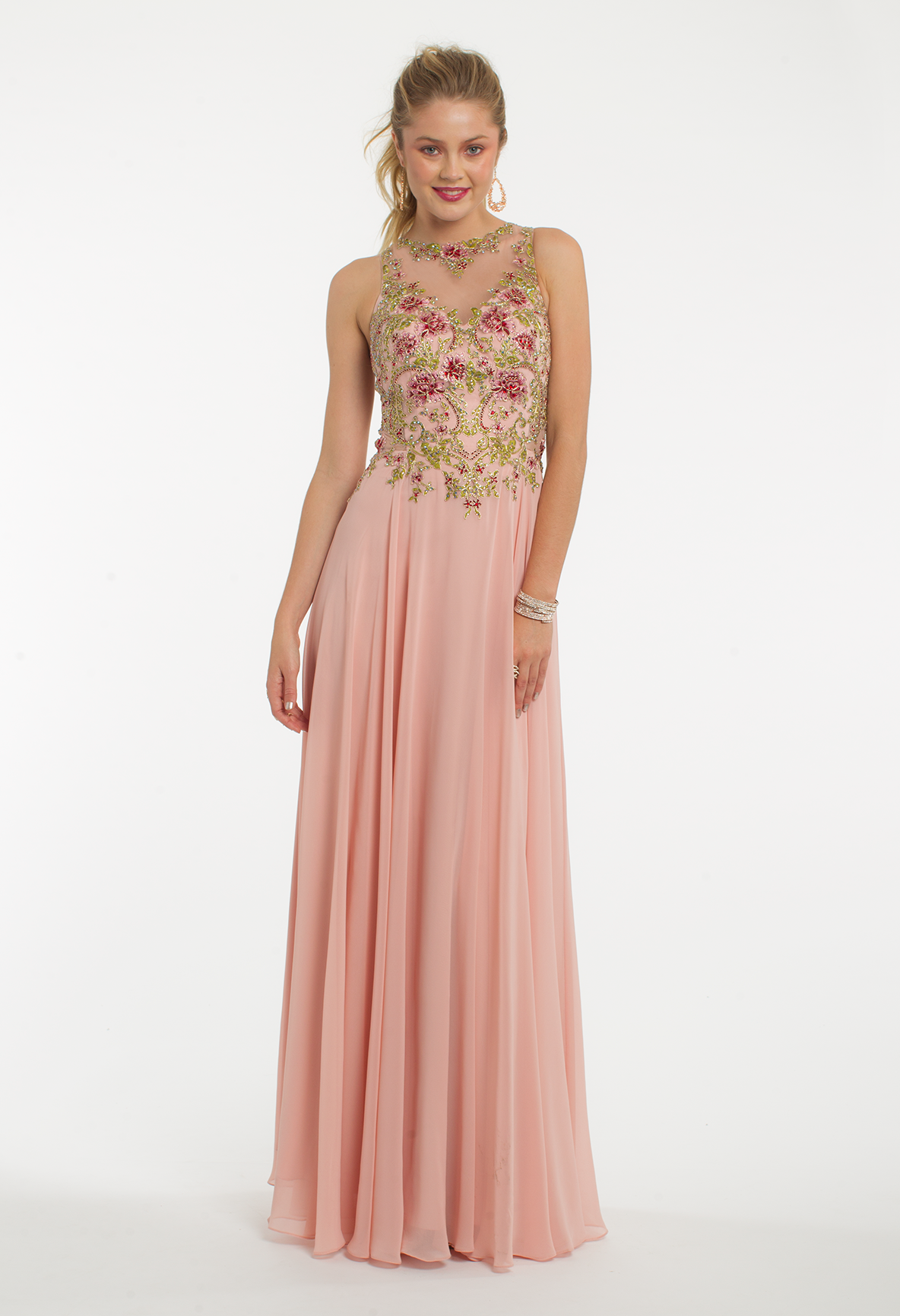 This evening gown is perfect for a gardenthemed prom with its