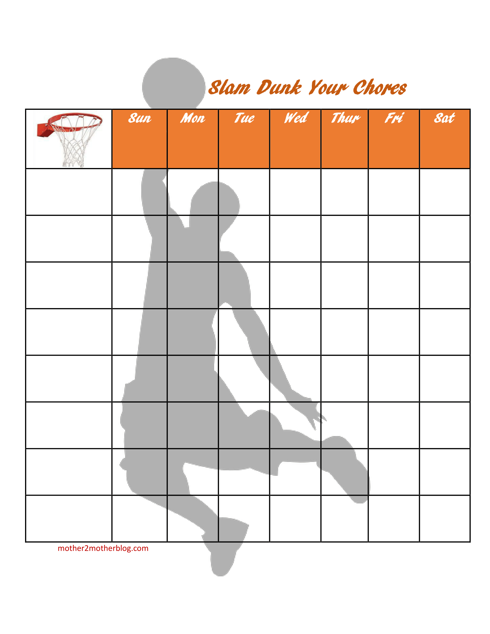 6 Free Chore Charts For Children