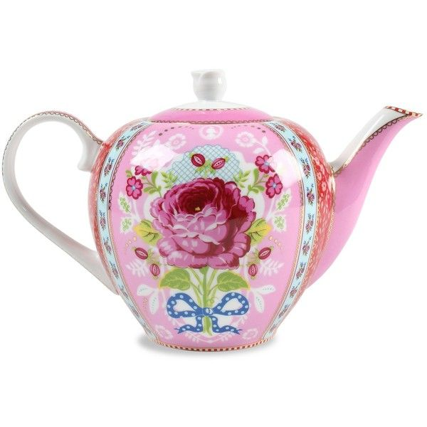 Antique Rose Pink Tea Pot ($61) ❤ liked on Polyvore featuring home, kitchen & dining, tea, furniture, pink and filler