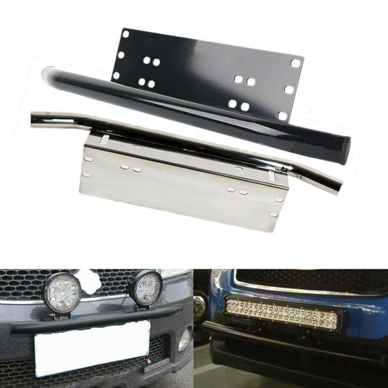 Black LED Lighting Bars etc Car Black Front Bumper License Plate Mount Bracket for Vehicle Lights LED Work Lamps