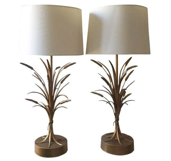 Gold Or Brass Wheat Sheaf Base Table Lamp By Chapman Wheat Sheaf Table Lamp Lamp
