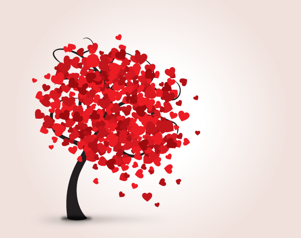 Love tree with red hearts valentine card vector template more love tree with red hearts valentine card vector template more free vector graphics www pronofoot35fo Choice Image