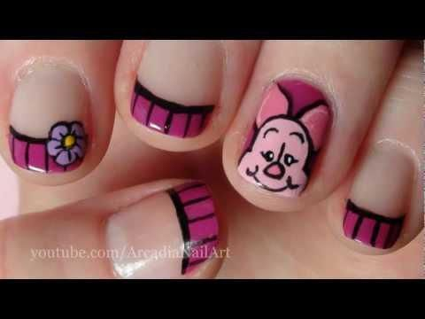 Piglet nails. So cute and so cool!