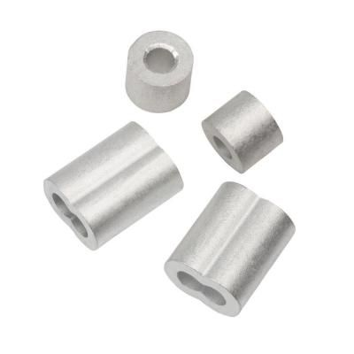 Everbilt 1 4 In Aluminum Ferrule And Stop Set 44014 The Home Depot In 2020 Aluminum Wire Netting Rope Clamp