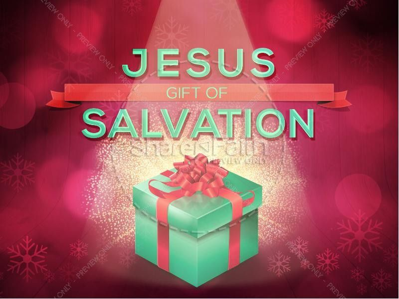 Jesus gift of salvation ministry powerpoint christmas colors grace christmas colors grace the background of this beautiful christmas themed powerpoint template the gift in the center is brought to focus with lights toneelgroepblik Image collections