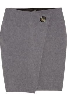 Vivienne Westwood Anglomania  D.F. folded twill skirt  $345