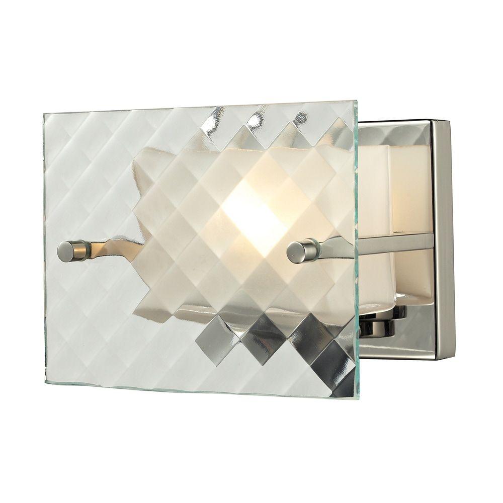 Photo of Brushed Nickel Talmage Collection 1-Light bath (Nickel Finish, 60 Watt Med. Base), ELK Lighting