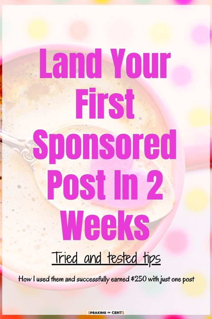 Everything you need to know if you are looking to land sponsored posts. Here is a guide on how to contact the brands and what you need to remember if you want to make money by creating sponsored posts. It is the fastest way of making money if you are a blogger or free lance writer. #sponsoredpost #sponsoredposttips #landingsponsoredpost #makemoneywriting #freelancewriting