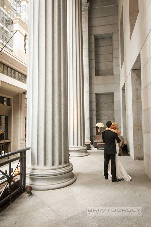 Bride and Groom at the Cipriani Wall Street