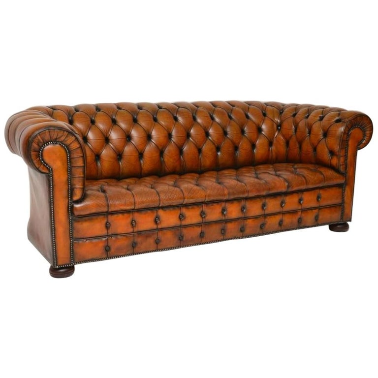 Antique Deep Buttoned Leather Chesterfield Sofa Leather Chesterfield Chair Leather Chesterfield Leather Chesterfield Sofa