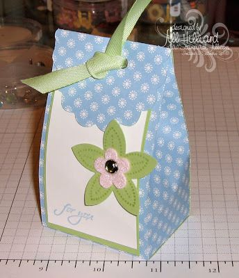 Jill's Card Creations: Scallop Bag Tutorial | Wrap it up
