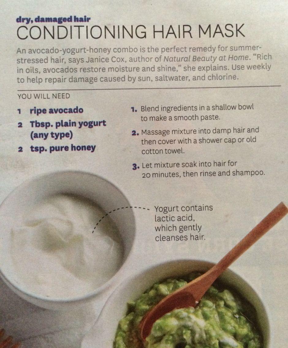 Diy conditioning hair mask