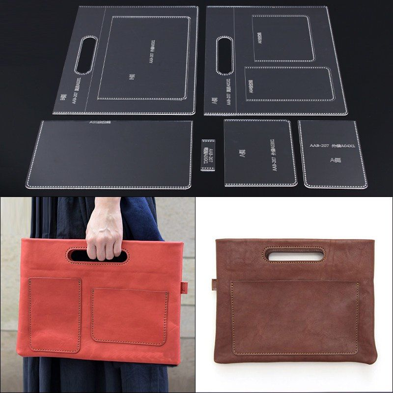 Portable Document Package Acrylic Acrylic Version Diy Leather Handmade Leather B Disenos De Carteras De Cuero Moldes Bolsos De Tela Patrones De Bolso