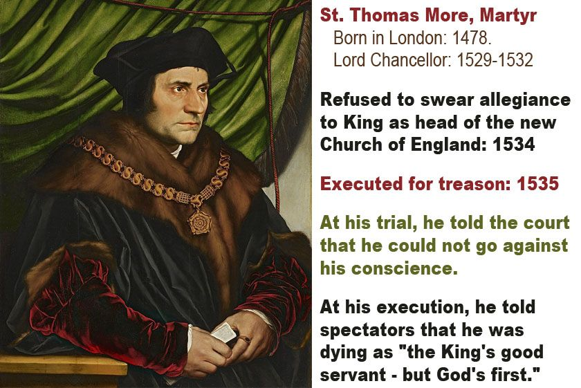an argument against thomas more being a martyr The trial of thomas more: july 1, 1535 more's trial is one of the most famous since the trial of socrates unlike socrates, however, more was an experienced judge and lawyer who had prepared himself for his final trial over.