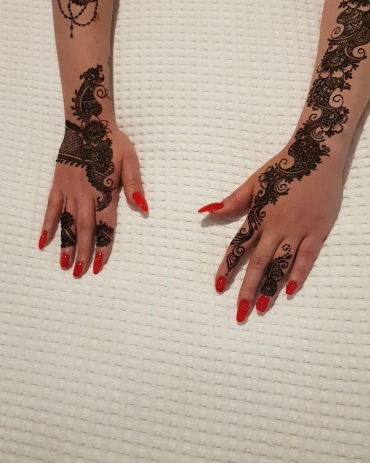 Style Henna Mehndi Gilliterhenna Summer Tattoo Stiker Funn