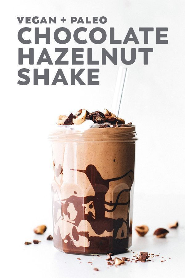 Vegan Chocolate Hazelnut Shake (or Frosty!)