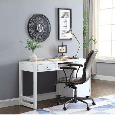 Canora Grey Ruppe Desk Color White Acme Furniture Door Storage Credenza Desks