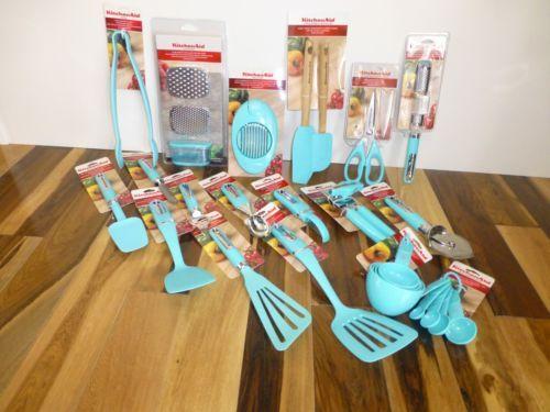 Amazing Brand New KitchenAid Aqua Sky Turquoise Blue Kitchen Utensils | EBay