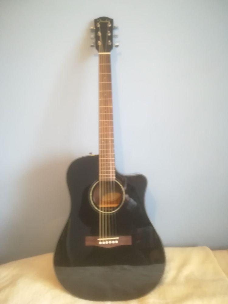 Fender Dg60ce Electro Acoustic Guitar In Black Electro Acoustic Guitar Acoustic Guitar Chords Guitar