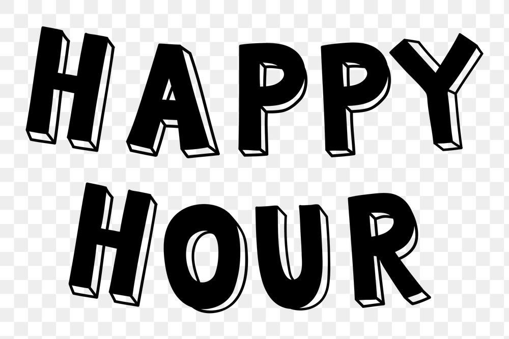Happy Hour Png Word Typography Font Free Image By Rawpixel Com Cotton Free Typography Fonts Typography Fonts Typography