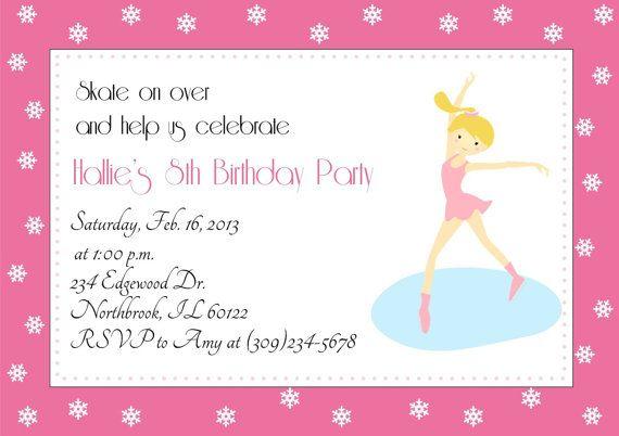 Ice Skating Party Printable Invitations by TrishsDesignStudio, $12.00